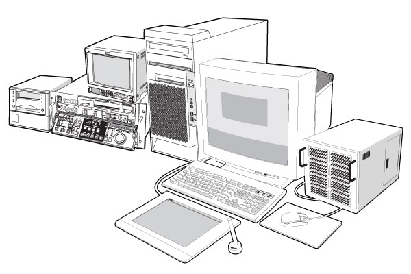 Computer post workstation VTR betacam backup Vector EPS