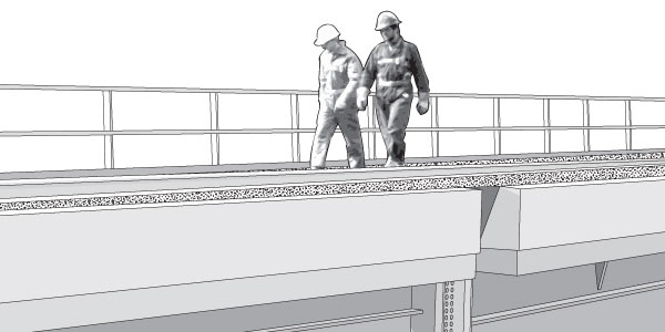 Rail Bridge Vector EPS