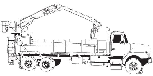 Utility Crane Truck Vector EPS