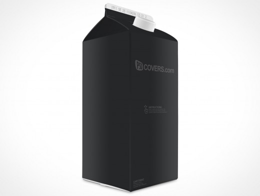 Empty 2L Carton Milk Juice Cocktail Beverage Container template