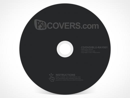 Blank CD DVD ROM BluRay Disc