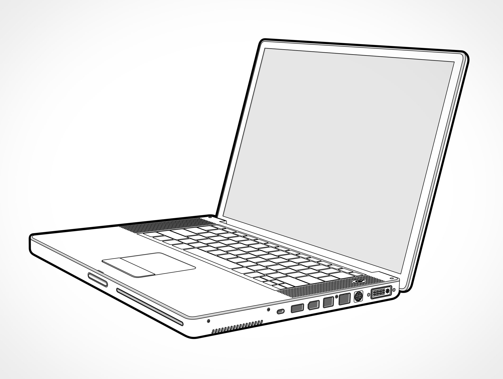Line Art Laptop : Laptop vector image collections wallpaper and free download