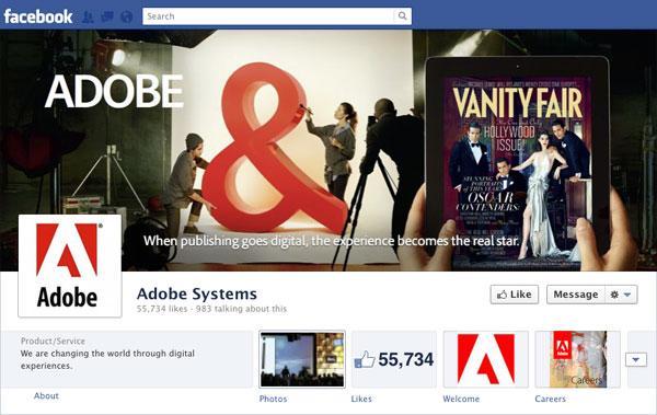 Facebook Brand Timeline Adobe