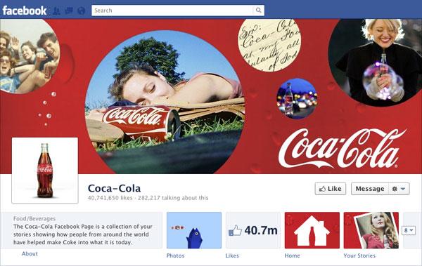 Facebook Brand Timeline Coke
