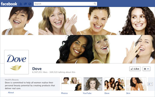 Facebook Brand Timeline Dove