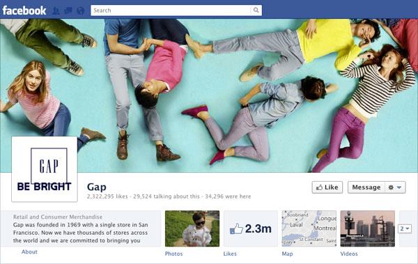 Facebook Brand Timeline GAP