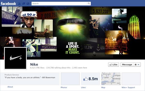 Facebook Brand Timeline NIKE