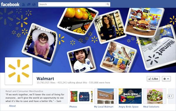 Facebook Brand Timeline Walmart