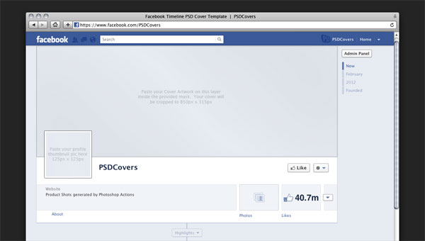 Facebook Timeline PSD Cover Template
