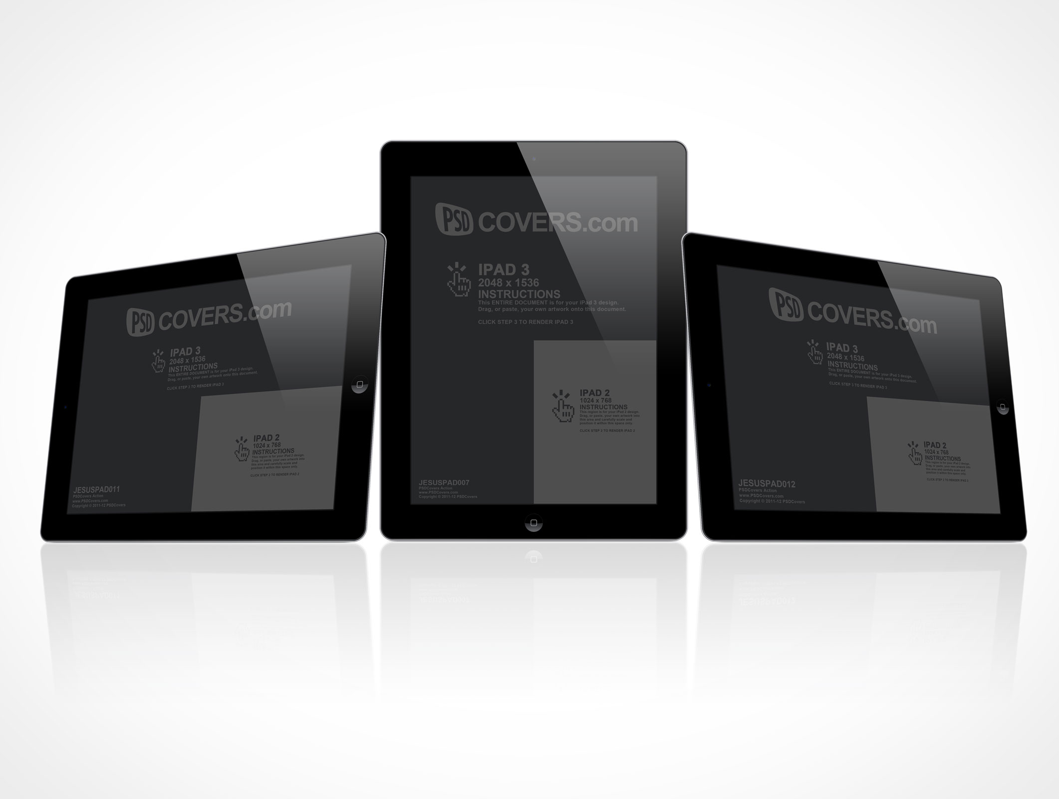the new apple multi-touch retina display ipad 3 psd cover action, Powerpoint templates
