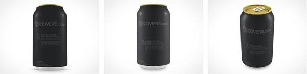 Blank Soda Pop Aluminum PSD Can