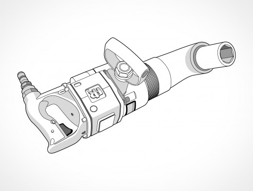 Angle Impact Wrench Vector EPS