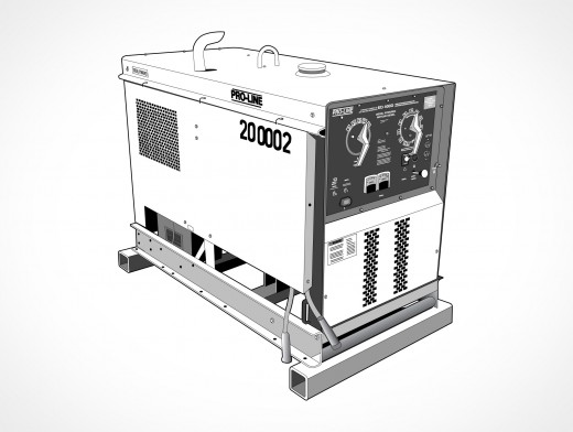 Engine Powered Arc Welder Vector EPS