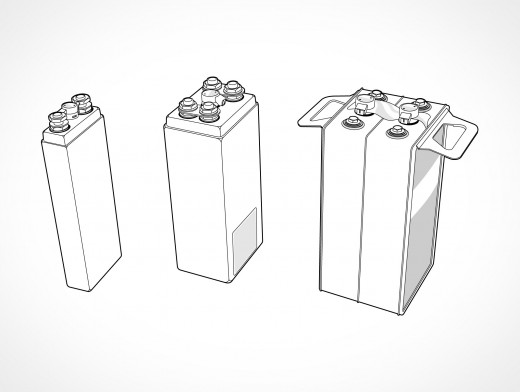 NiCad Batteries Vector EPS