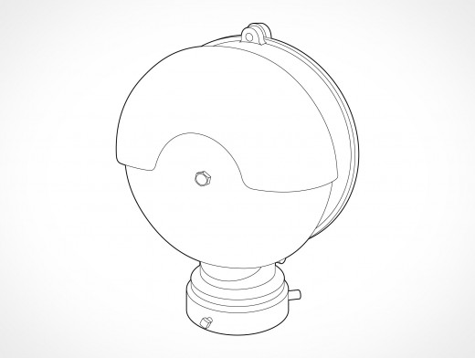 Security Alarm Bell Vector EPS