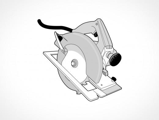 Circular Saw Vector EPS