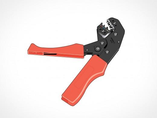 Metal Crimp Crimping Tool Vector EPS