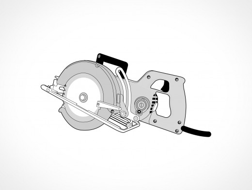 Circular Electric Saw Vector EPS