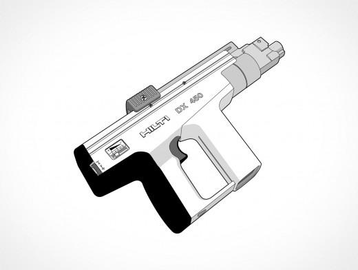 Hilti Ramset Gun Vector EPS