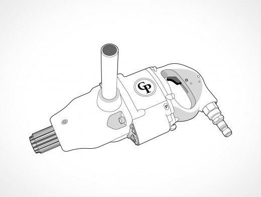 Impact Wrench Vector EPS