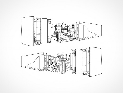 Jet Engines Vector EPS