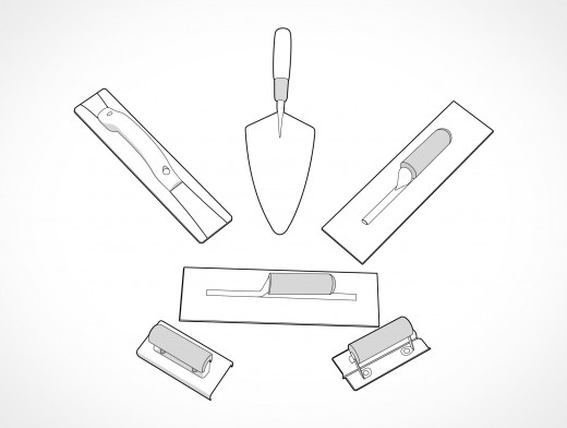 Masonry Trowels Vector EPS