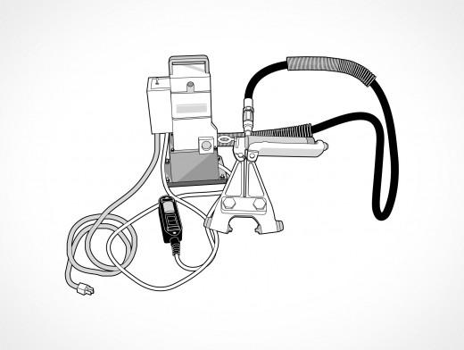 Hydraulic Bolt Cutters Vector EPS