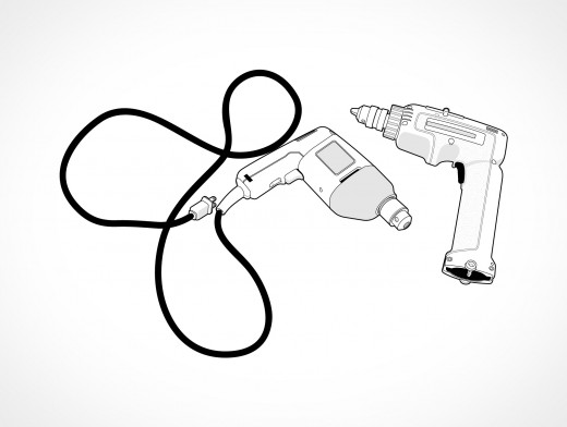 Electric Power Drill Vector EPS