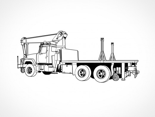 Railroad Vehicle Duce Ton Truck Vector EPS