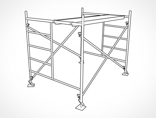 Metal Pipe Scaffolding Vector EPS