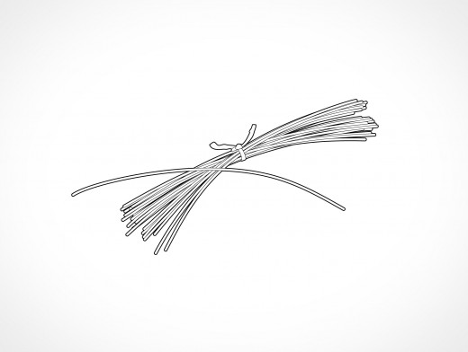 Tie Wire Bundle Vector EPS