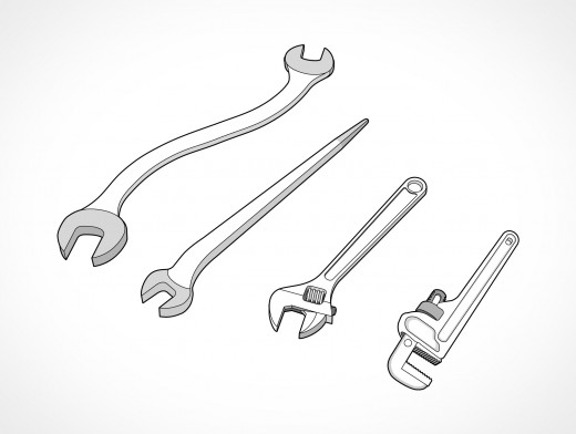 Wrench Set Vector EPS