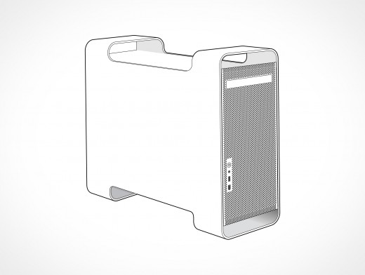 Apple Mac Pro G5 Tower Vector EPS