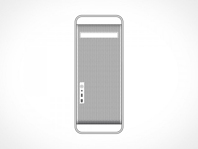 Apple Mac Pro G5 Tower Front Vector EPS