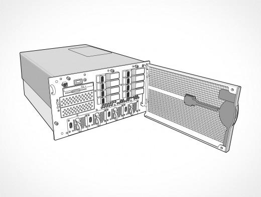 Dell PowerEdge 4U Rack Server Vector EPS