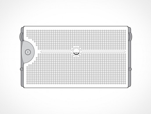 Dell Poweredge Server Front View Vector EPS