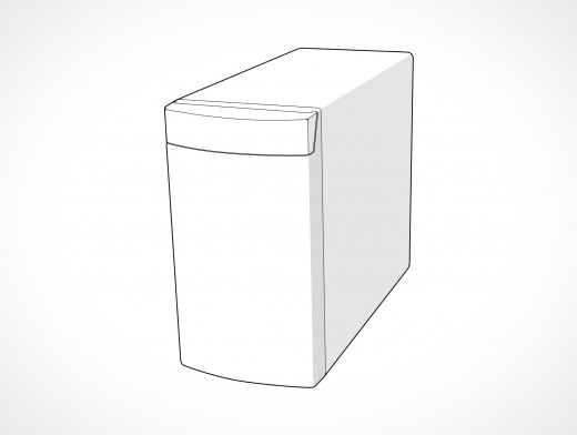 Generic Windows PC Case Vector EPS