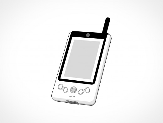 Generic Portable Media Music Player Vector EPS