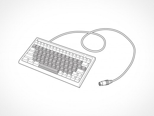 Serial Computer Keyboard Vector EPS