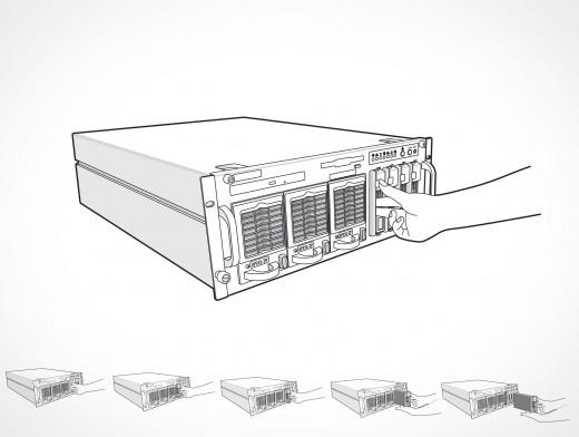 Supermicro Remove Disk Drive Vector EPS