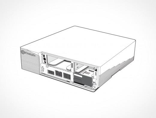 SGI Indigo Drive Bay Access Vector EPS