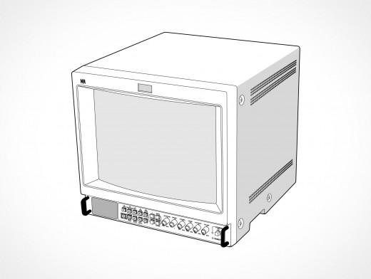 SONY Broadcast Reference Monitor CRT Vector EPS