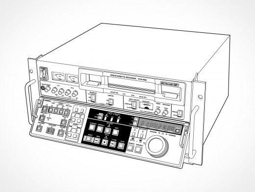 SONT VTR Betacam PVW-2800 Videocassette Vector EPS