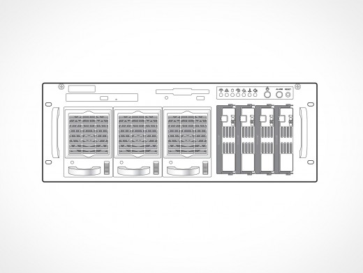 Supermicro Front View Vector EPS