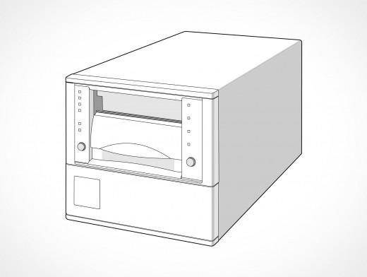 Tape Storage Backup Data Drive Vector EPS