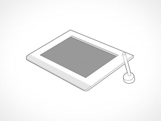 Wacom Tablet Vector EPS