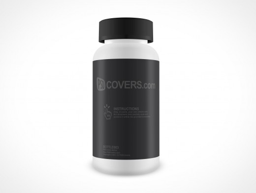 Blank Aspirin Pill Medicine Bottle PSD Cover Action