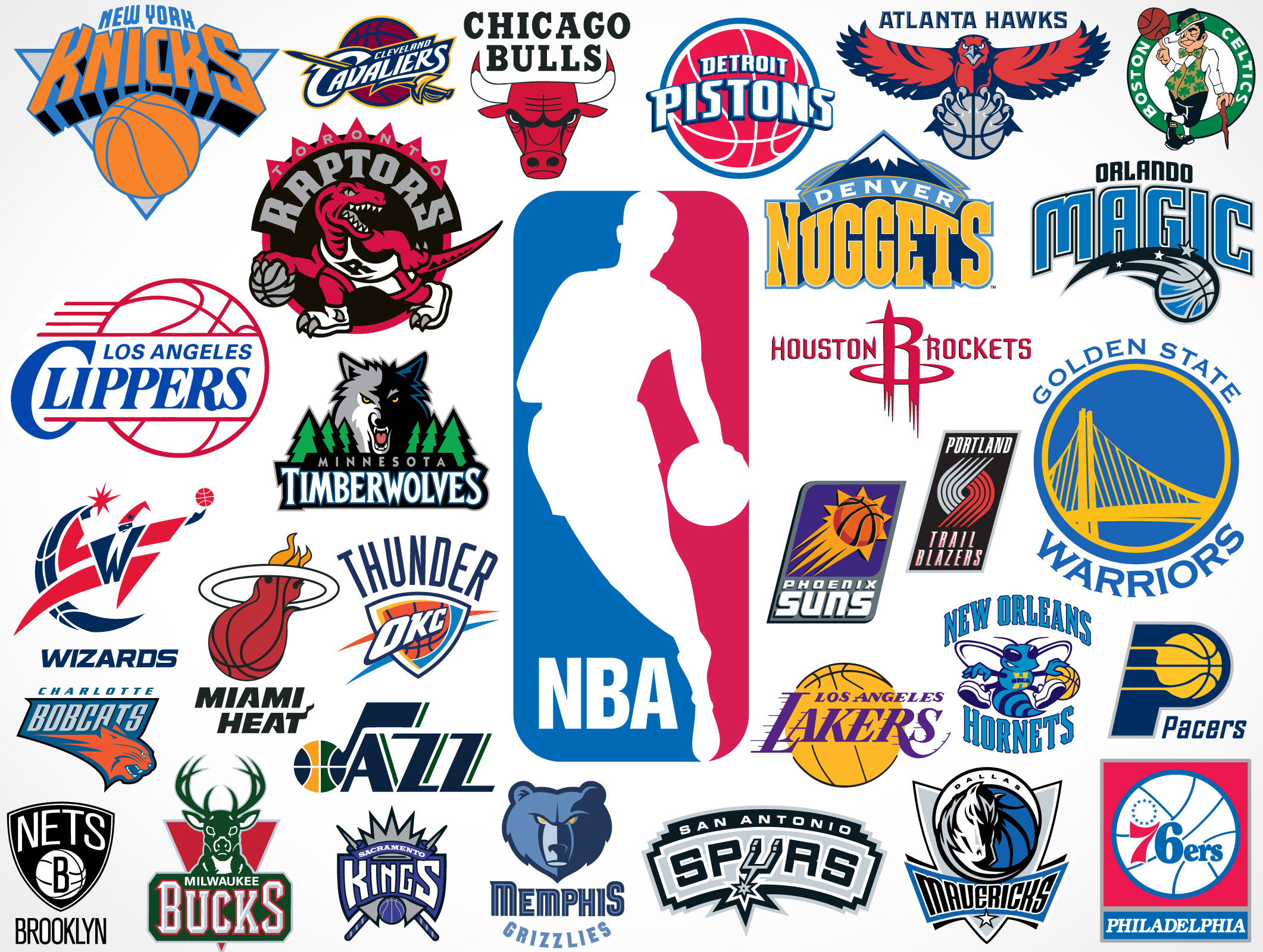NBA Team Vector Logos Market Your PSD Mockups For
