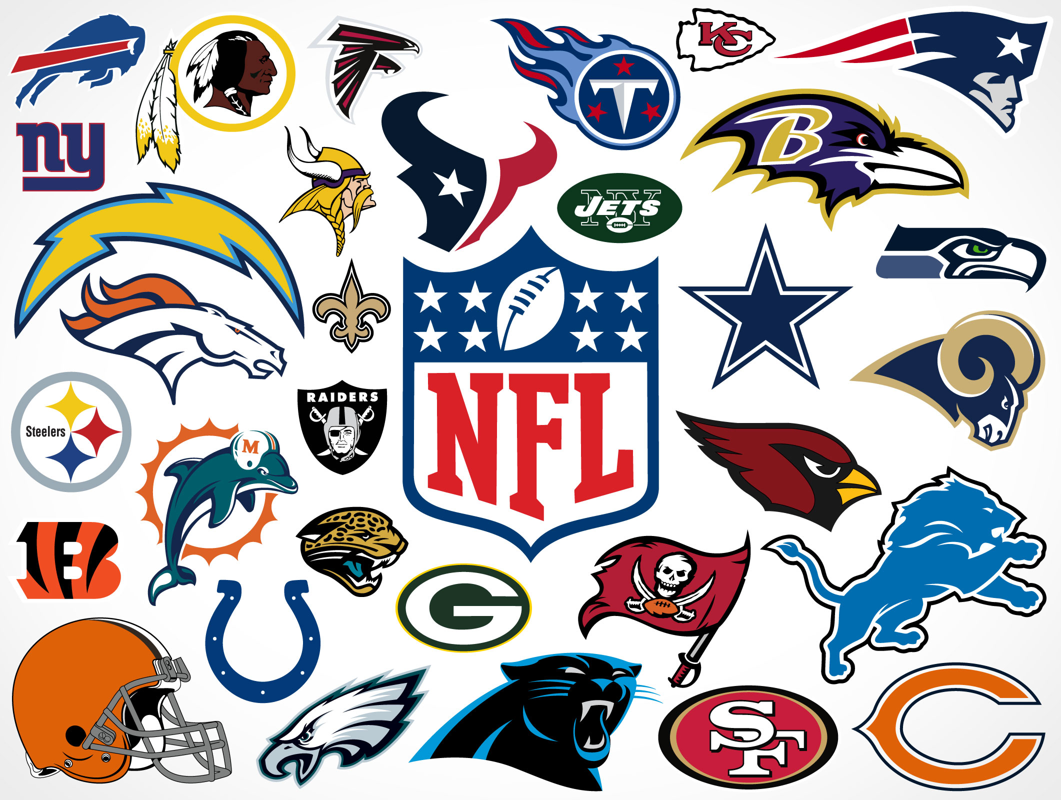 national football league team vector logos � market your