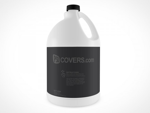 Blank Bleach Javel Bottle Cover Action PSD